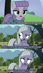 Size: 1280x2160 | Tagged: safe, edit, edited screencap, editor:jaredking203, screencap, limestone pie, maud pie, earth pony, pony, the maud couple, caption, duo, female, image macro, mare, meme, text