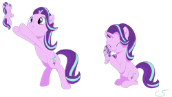 Size: 1024x577 | Tagged: safe, artist:cyanspark, starlight glimmer, pony, unicorn, bipedal, cute, daaaaaaaaaaaw, glimmerbetes, hug, meme, plushie, ponified animal photo, self plushidox, self ponidox, selfcest, shipping, simple background, solo, transparent background