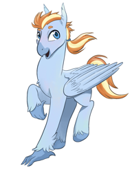 Size: 1362x1775 | Tagged: source needed, safe, artist:draw3, oc, oc only, classical hippogriff, hippogriff, hippogriff oc, simple background, solo, wings