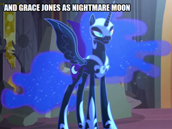 Size: 670x500 | Tagged: safe, nightmare moon, alicorn, pony, friendship is magic, grace jones, look-alike