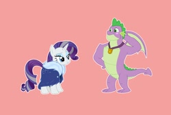 Size: 1362x916 | Tagged: safe, artist:pottedphyllis, rarity, spike, the last problem, female, male, shipping, sparity, straight