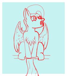 Size: 756x853 | Tagged: safe, artist:thewindking, fluttershy, bird, bird pone, pony, behaving like a bird, female, mare, simple background, sketch