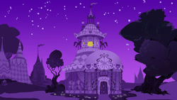 Size: 673x379 | Tagged: safe, artist:vanripper, fanfic:like fine wine, animated at source, carousel boutique, fanfic, flash, night, no pony, stars, tree