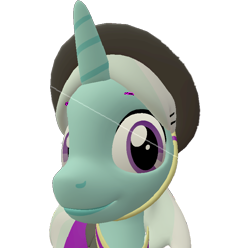Size: 726x720   Tagged: safe, artist:topsangtheman, cornetta, pony, unicorn, 3d, bust, close-up, clothes, hat, looking at you, simple background, solo, source filmmaker, transparent background, uniform