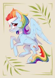 Size: 2894x4093 | Tagged: safe, artist:shore2020, rainbow dash, pegasus, pony, deep tissue memories, spoiler:deep tissue memories, crying, female, high res, solo, spa pony rainbow dash
