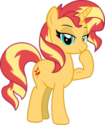 Size: 3788x4500 | Tagged: safe, artist:limedazzle, sunset shimmer, pony, absurd resolution, biceps, female, flexing, muscles, show accurate, simple background, solo, sunset lifter, transparent background, vector