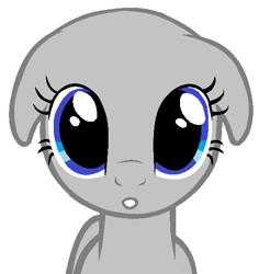Size: 502x532 | Tagged: safe, artist:mangutangu, oc, earth pony, pony, bald, base, earth pony oc, eyelashes, floppy ears, simple background, solo, white background, wide eyes