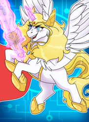 Size: 1400x1920 | Tagged: safe, artist:ali-selle, alicorn, pony, ponified, she-ra, she-ra and the princesses of power, solo