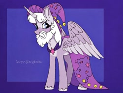 Size: 1280x960 | Tagged: safe, artist:incendiaryboobs, star swirl the bearded, twilight sparkle, alicorn, pony, unicorn, cape, clothes, facial hair, fusion, hat, male, stallion, twilight sparkle (alicorn)