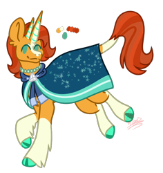 Size: 850x900 | Tagged: artist needed, source needed, useless source url, safe, stellar flare, sunburst, bicorn, classical unicorn, pony, unicorn, cape, clothes, cloven hooves, female, fusion, horn, jewelry, leonine tail, male, mare, mother and child, mother and son, multiple horns, necklace, pearl necklace, robe, simple background, sunburst's robe, transparent background, unshorn fetlocks