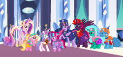 Size: 2340x1080 | Tagged: safe, artist:徐詩珮, fizzlepop berrytwist, glitter drops, luster dawn, princess cadance, princess flurry heart, spring rain, tempest shadow, twilight sparkle, oc, oc:bubble sparkle, alicorn, bubbleverse, series:sprglitemplight diary, series:sprglitemplight life jacket days, series:springshadowdrops diary, series:springshadowdrops life jacket days, the last problem, alicornified, alternate universe, aunt and niece, base used, bisexual, chase (paw patrol), clothes, cousins, cute, everest (paw patrol), female, glitterbetes, glittercorn, glitterlight, glittershadow, lesbian, lifeguard, lifeguard spring rain, lifejacket, lustercorn, magical lesbian spawn, magical threesome spawn, marshall (paw patrol), mother and child, mother and daughter, multiple parents, next generation, offspring, older, older glitter drops, older spring rain, older tempest shadow, older twilight, parent:glitter drops, parent:spring rain, parent:tempest shadow, parent:twilight sparkle, parents:glittershadow, parents:sprglitemplight, parents:springdrops, parents:springshadow, parents:springshadowdrops, paw patrol, polyamory, princess twilight 2.0, race swap, shipping, skye (paw patrol), sprglitemplight, springbetes, springcorn, springdrops, springlight, springshadow, springshadowdrops, tempestbetes, tempesticorn, tempestlight, twilight sparkle (alicorn), ultimate twilight, zuma (paw patrol)