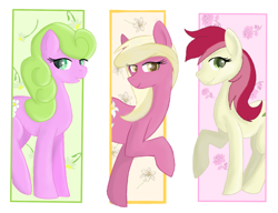 Size: 1152x886 | Tagged: safe, artist:rainbowfoxxy, daisy, flower wishes, lily, lily valley, roseluck, flower trio