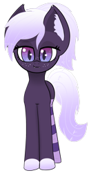 Size: 1024x1980 | Tagged: safe, artist:windy-pony, oc, oc only, oc:proxi, bat pony, pony, bat pony oc, bat wings, clothes, cute, ear fluff, fangs, female, freckles, looking at you, mare, simple background, slit eyes, slit pupils, smug, socks, solo, striped socks, thigh highs, transparent background, wings