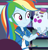 Size: 1033x1080 | Tagged: safe, screencap, rainbow dash, equestria girls, equestria girls series, holidays unwrapped, spoiler:eqg series (season 2), bowtie, canterlot mall, clothes, cloud, cropped, cute, dashabetes, dashing through the mall, female, geode of super speed, hat, jewelry, magical geodes, merchandise, necklace, pockets, rainbow, shirt, short sleeves, smiling, store, stuffed animals, t-shirt, thunderbolt, wristband