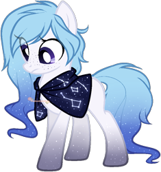 Size: 763x811 | Tagged: safe, artist:skulifuck, oc, oc only, earth pony, pony, base used, cloak, clothes, constellation, earth pony oc, ethereal mane, eye clipping through hair, looking down, simple background, solo, starry mane, transparent background