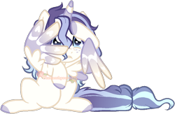 Size: 848x553 | Tagged: safe, artist:skulifuck, oc, oc only, oc:sweet dreams, alicorn, pony, alicorn oc, base used, colored hooves, female, horn, mare, scared, simple background, solo, transparent background, wing hands, wings