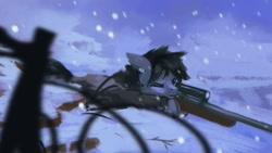 Size: 1920x1080 | Tagged: safe, artist:hierozaki, artist:isagat7, oc, oc only, pony, gun, rifle, sniper rifle, snow, snowfall, solo, weapon