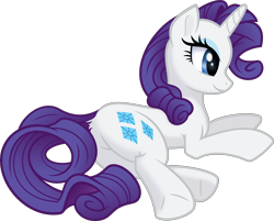 Size: 5500x4415 | Tagged: safe, artist:kp-shadowsquirrel, artist:negatif22, rarity, pony, unicorn, .svg available, absurd resolution, cute, female, mare, movie accurate, profile, prone, raribetes, simple background, solo, transparent background, vector