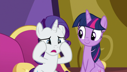 Size: 1920x1080 | Tagged: safe, screencap, rarity, twilight sparkle, alicorn, dragon dropped, fainting couch, twilight sparkle (alicorn), twilight's castle