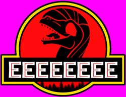 Size: 750x583 | Tagged: safe, artist:the smiling pony, edit, editor:parasprite, fluttershy, oc, oc:raptorshy, dinosaur, velociraptor, dinosaurified, eeee, female, jurassic park, simple background, solo, transparent background, veloshyraptor