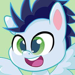 Size: 379x379 | Tagged: safe, artist:cmndr_soarin, soarin', pegasus, pony, my little pony: pony life, cute, male, soarinbetes, solo, stallion