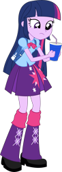 Size: 4910x13524 | Tagged: safe, artist:firesidearmy46231, twilight sparkle, alicorn, equestria girls, rainbow rocks, behaving like a horse, cup, cute, hoof hold, humans doing horse things, silly, simple background, transparent background, twilight sparkle (alicorn), vector