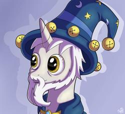Size: 1200x1100 | Tagged: safe, artist:oggynka, idw, star swirl the bearded, pony, unicorn, male, solo, stallion