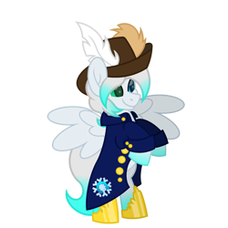 Size: 1800x1800 | Tagged: safe, artist:ponkus, oc, oc:cold front, pegasus, pony, clothes, heterochromia, pirate, simple background, transparent background