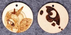 Size: 1014x507   Tagged: safe, artist:malte279, princess luna, craft, cutie mark, jewelry, pendant, pyrography, traditional art, wood