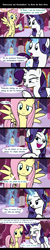 Size: 1920x9560 | Tagged: safe, artist:brook the book horse, fluttershy, rarity, pegasus, pony, unicorn, carousel boutique, comic, dialogue, female, flarity, food, lesbian, mare, marshmallow, shipping, speech bubble