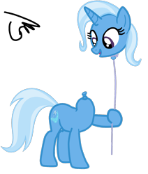 Size: 1008x1186 | Tagged: safe, artist:gmaplay, trixie, balloon pony, inflatable pony, pony, unicorn, balloon, balloon head, female, mare, modular, simple background, solo, transparent background