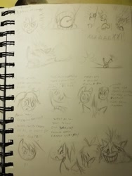 Size: 960x1280   Tagged: safe, artist:souleatersaku90, apple bloom, applejack, big macintosh, granny smith, earth pony, pony, apple, comic, crash bandicoot, food, sketch, text, traditional art, unfinished art