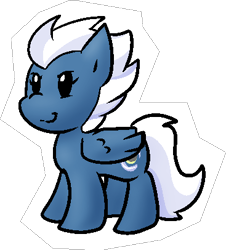 Size: 367x406 | Tagged: safe, artist:zutcha, night glider, pegasus, pony, female, simple background, solo, transparent background
