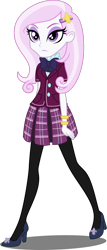 Size: 584x1368 | Tagged: safe, artist:xebck, edit, vector edit, fleur-de-lis, equestria girls, bracelet, clothes, crystal prep academy uniform, eyeshadow, hairclip, high heels, jewelry, legs, makeup, pantyhose, plaid skirt, pleated skirt, school uniform, shoes, simple background, skirt, transparent background, vector