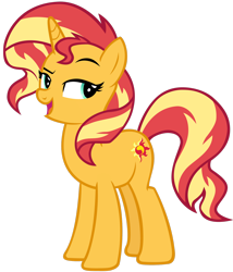 Size: 1280x1495 | Tagged: safe, artist:andoanimalia, sunset shimmer, pony, unicorn, equestria girls, equestria girls series, forgotten friendship, cute, open mouth, shimmerbetes, simple background, smugset shimmer, solo, transparent background, vector