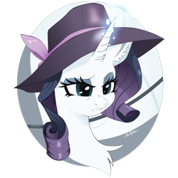 Size: 1000x1000 | Tagged: safe, artist:willoillo, rarity, pony, unicorn, rarity investigates, chest fluff, hat, simple background, solo, transparent background
