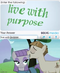 Size: 500x606 | Tagged: safe, edit, edited screencap, screencap, maud pie, mudbriar, the maud couple, caption, image macro, meme, text