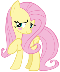 Size: 5811x6913 | Tagged: safe, artist:andoanimalia, fluttershy, pegasus, pony, the last laugh, blushing, cute, raised hoof, shyabetes, simple background, solo, transparent background, vector