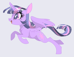 Size: 1280x980 | Tagged: safe, artist:sigmapegasi, twilight sparkle, alicorn, pony, cute, female, mare, open mouth, profile, solo, starry eyes, twiabetes, twilight sparkle (alicorn), wingding eyes