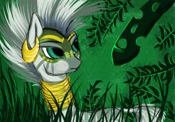 Size: 4000x2800   Tagged: safe, artist:rainbowmoron, zecora, zebra, the cutie re-mark, alternate timeline, chrysalis resistance timeline, forest, resistance leader zecora