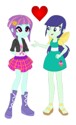 Size: 1017x1680 | Tagged: safe, artist:berrypunchrules, edit, blueberry cake, sunny flare, equestria girls, equestria girls series, heart, simple background, transparent background