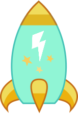 Size: 153x227 | Tagged: safe, artist:mega-poneo, lightning dust, female, inanimate tf, kirby, missile, rocket, simple background, solo, transformation, transparent background
