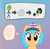 Size: 908x892 | Tagged: safe, artist:craftycirclepony, derpibooru exclusive, oc, oc only, oc:anon, oc:filly anon, oc:little league, earth pony, human, pony, :|, angry, arrow, baseball cap, blank stare, bust, cap, cheek fluff, duo, ear fluff, female, filly, freckles, frown, gradient background, hat, heart, looking at you, male, poof, thought bubble, transformation, wtf