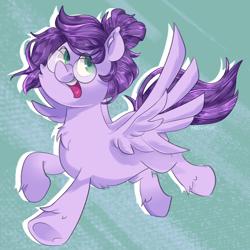 Size: 1300x1300 | Tagged: safe, artist:mewy101, oc, oc:vylet, pegasus, pony, female, happy, mare, solo