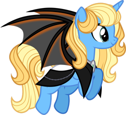 Size: 1280x1178 | Tagged: safe, alternate version, artist:helenosprime, oc, oc:skydeviant, alicorn, bat pony, bat pony alicorn, pony, bat wings, clothes, female, horn, mare, simple background, solo, transparent background, wings