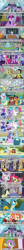 Size: 640x6776   Tagged: safe, apple bloom, auburn vision, berry blend, berry bliss, blueberry curls, bubblegum blossom, citrine spark, cloudburst, daisy, discord, fire flicker, fire quacker, flower wishes, fortune favors, gallus, huckleberry, lighthoof, ocellus, peppermint goldylinks, pinkie pie, princess celestia, rainbow dash, rarity, sandbar, scootaloo, shimmy shake, silverstream, smolder, spike, starlight glimmer, sugar maple, summer breeze, sweetie belle, twilight sparkle, violet twirl, yona, alicorn, dragon, griffon, pony, book, college humor, comic style, cutie map, cutie mark crusaders, empathy cocoa, female, filly, fountain, friendship student, implied drinking, laughing, lying down, school of friendship, shrunken pupils, student six, text, twilight sparkle (alicorn), twilight's castle, winged spike, yelling