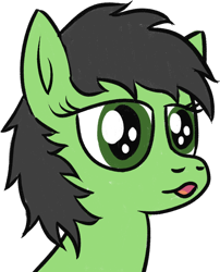 Size: 1114x1376 | Tagged: safe, artist:poniidesu, oc, oc only, oc:filly anon, earth pony, pony, bust, faic, female, filly, ooo, portrait, simple background, solo, transparent background