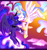 Size: 2000x2109 | Tagged: safe, artist:regkitty, princess celestia, princess luna, alicorn, pony, cloud, crown, cute, cutelestia, duo, eyes closed, female, flying, high res, jewelry, lunabetes, mare, moon, profile, regalia, royal sisters, siblings, sisters, sky, spread wings, sun, wings