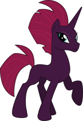 Size: 3303x4843 | Tagged: safe, edit, vector edit, fizzlepop berrytwist, tempest shadow, pony, unicorn, cute, female, horn, looking at you, missing cutie mark, one hoof raised, pretty pretty tempest, show accurate, simple background, solo, tempest gets her horn back, tempest now has a true horn, tempestbetes, transparent background, vector