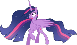 Size: 4449x2621 | Tagged: safe, alternate version, artist:helenosprime, edit, twilight sparkle, alicorn, pony, the last problem, accessory-less edit, female, mare, missing accessory, princess twilight 2.0, puffy cheeks, raised hoof, simple background, solo, spread wings, transparent background, twilight sparkle (alicorn), wings